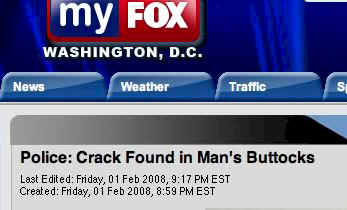 Crack found in Man's buttocks