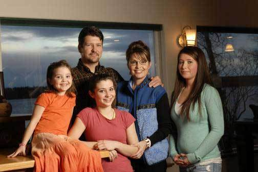 Palin Family taken 6 weeks before Trig's birth