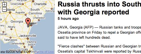 Russia attacks Georgia