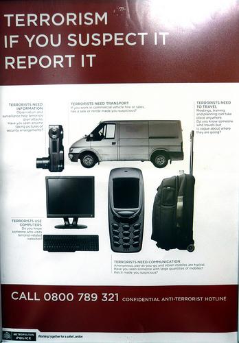 Metropolitan Police terrorism poster