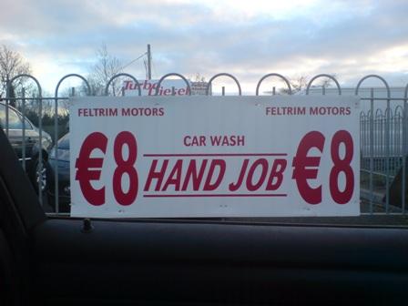 Feltrim Motors car wash hand job €8