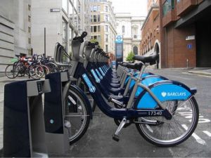 Docking station for London bike sharing