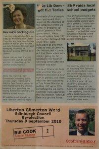 Back of Labour leaflet